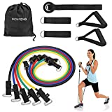 WENFENG 11PC Resistance Bands Set,10lbs to 50lbs Workout Bands Door Anchor Handles Ankle Straps – Stackable Up to 150 lbs Resistance Training, Physical Therapy, Home Workouts Review