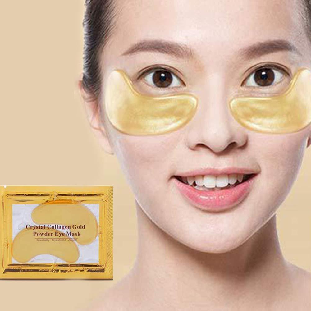 Xiton 10Bl/äTter Feuchtigkeitsspendende Augenbehandlungsmaske Kristallkollagen Unter Augenmaske Hyalurons/äUre-Augenklappen Anti Aging /& Falten Augenpads Augengelmaske Mit Augenringen Reduzieren