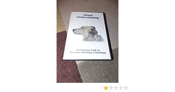 Virtual Canine Anatomy Amazon Books
