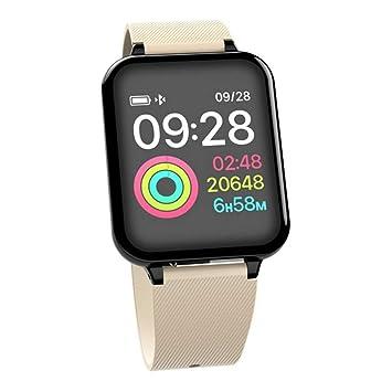ZZJSL Reloj Inteligente Relojes para Mujer Relojes Deportivos A Prueba De Agua Presión Sanguínea Impermeable, Rojo: Amazon.es: Deportes y aire libre