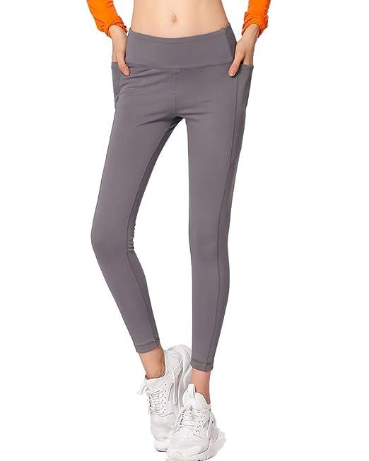 Leggins Deportes Mujeres Pantalones Deportes Color S/ólido Fitness Gym Yoga Pantalon Deportivo Running Workout Leggings