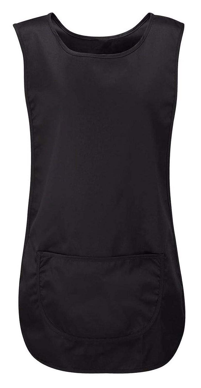 Style Wise Fashion Ladies Plain Pocket Apron Womens Sleeveless Tabard