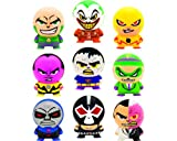 DC Comic Villains Buildable mini figurines. Set of 9