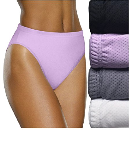 Fruit of The Loom Women's Signature Breathable Hi-Cut Panties 5-Pack (Size 6 (38-39