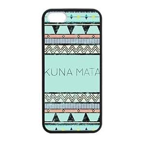 Hakuna Matata Custom Back Protection TPU Case for iPhone 5,5S (Laser Technology)