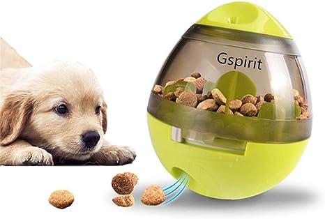 Gspirit Perro Comida Bola, Vaso Interactivo Perro Juguetes Comida ...