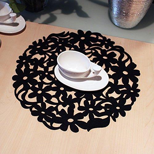 Placemat Tableware Pads Dinnerware Mat Round Laser