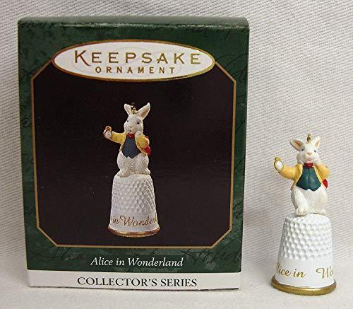 Hallmark Alice in Wonderland Miniature White Rabbit 3rd in Series 1997 Keepsake Ornament QXM4142