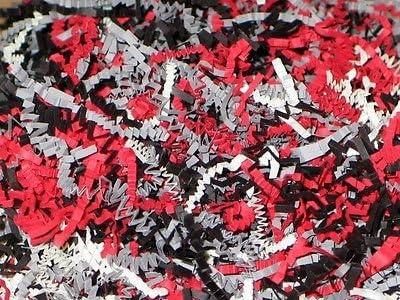 RED /& BLACK BLEND Gift Basket Shred Crinkle Paper Filler Bedding U Choose Size
