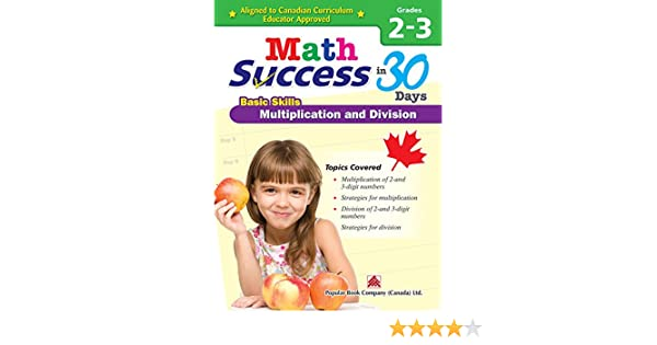 Multiplication and Division Grades 2-3 Canadian Curriculum Math Workbook Math Success Problem-solving Skills