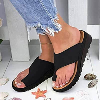 Sandals for Women Wide Width, 2020 Comfy Platform Sandal Shoes Comfortable Ladies Shoes Summer Beach Travel Flip Flops at  Women's Clothing store