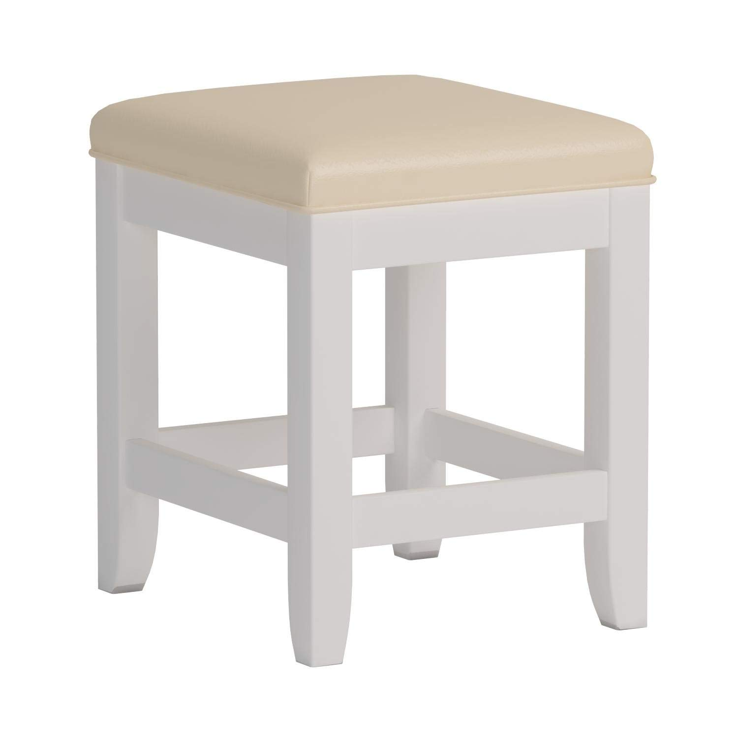 Naples White Vanity Bench by Home Styles
