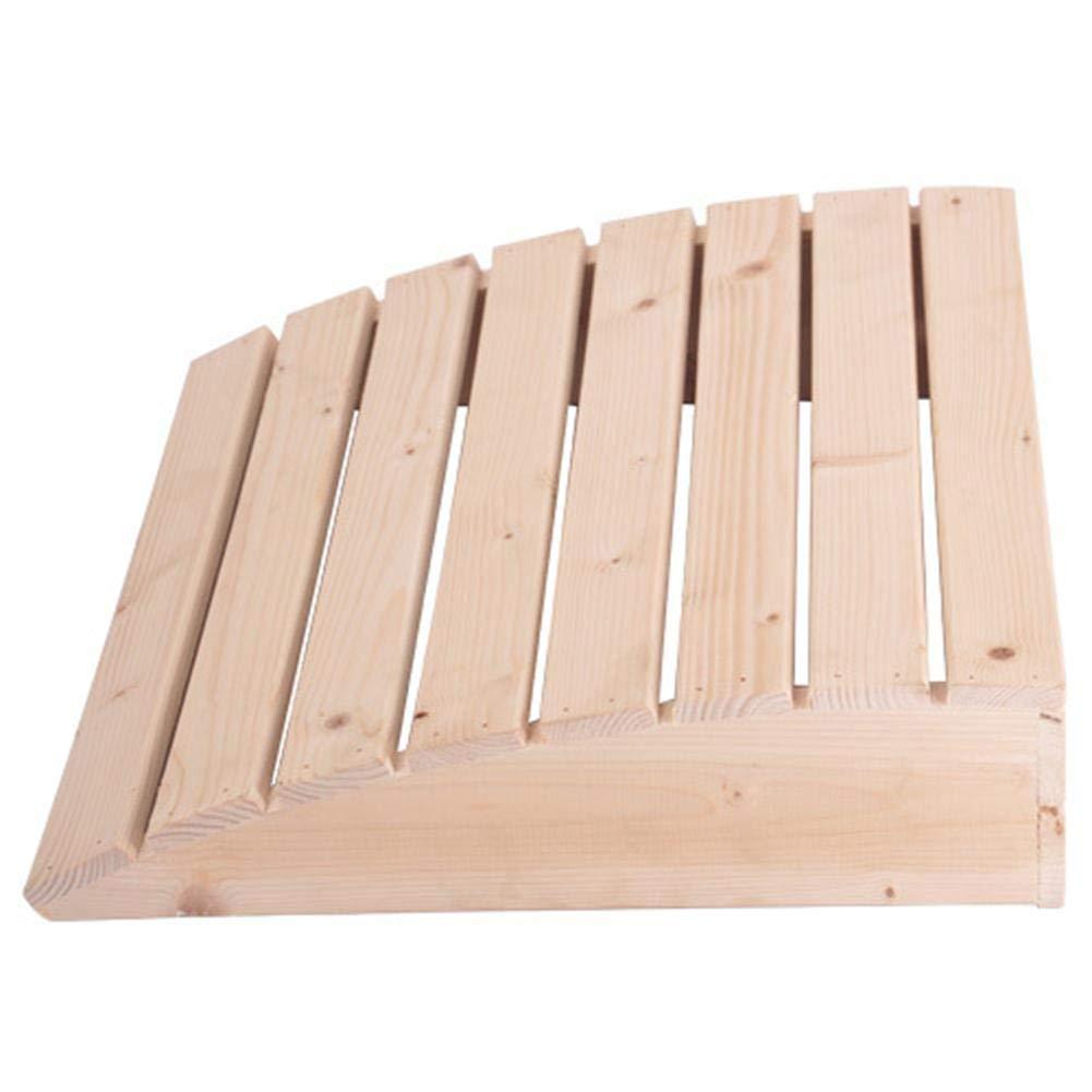 win-full Curved Sauna Headrest-Wooden Headrest Curved Cushion Sauna Equipment for Bathroom Bedroom