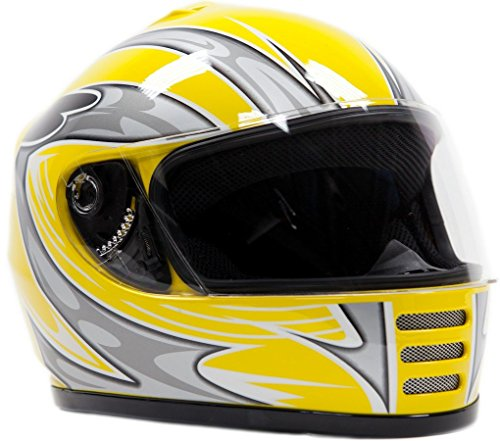 Motorcycle Helmet Yellow - 3