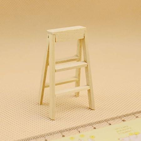 Faironly - Escalera Plegable de Madera para casa de muñecas de 1:12, decoración de jardín, Juguete para niños: Amazon.es: Hogar