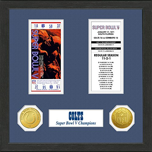 NFL Baltimore Colts SB Championship Ticket Collection, Bronze, 18