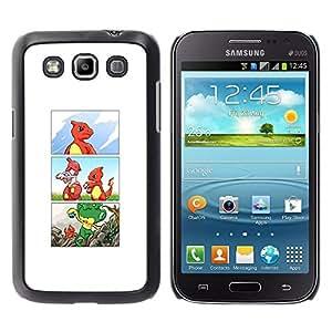 Samsung Galaxy Win / i8550 / i8552 / Grand Quattro , Radio-Star - Cáscara Funda Case Caso De Plástico (Poke Charizo Comic)
