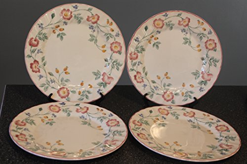 Briar Rose by Churchill SET of 4 Dinner Plates 10