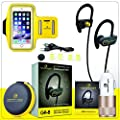 Bluetooth Headphones + FREE Sports Armband & a Car Charger! - Hematiter GR-8 IPX7 Waterproof Bluetooth Sport Headphones - Wireless Headphones Bluetooth V4.1 With 8 Hours of Music Time!