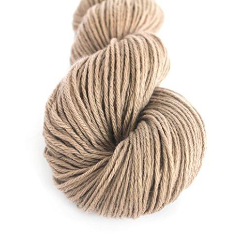 - Lotus Yarns 1X55g Hank 100% Mongolian Cashmere DK Weight Hand Knitting Mid Thick Yarn (04-Light Brown)
