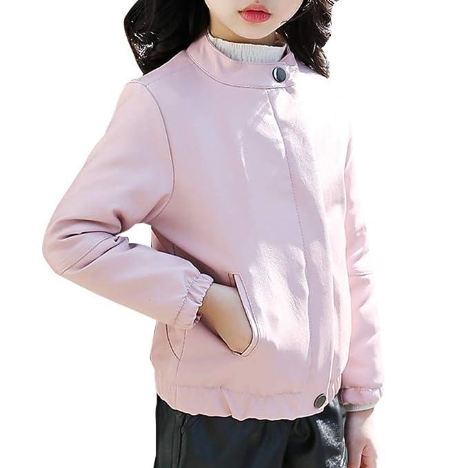 promo code e5e25 b5d07 MissChild Cappotti per ragazze - Giubbotti finta pelle moto Bambini ragazze  - Giacca a vento autunno inverno - Giacche ecopelle manica lunga