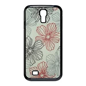 Pink Floral Use Your Own Image Phone Case for SamSung Galaxy S4 I9500,customized case cover ygtg570098