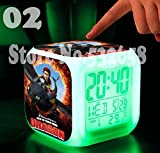 How to Train Your Dragon Alarm Clock Digital Action Toy Figures Thermometer Night Colorful Glowing Toys (Style 2)