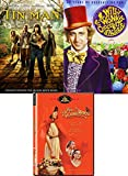 Candy Red Tin Triple Family Fun Movie Pack Willy Wonka & The Chocolate Factory Original Musical + Red Riding Hood Fairy Tale & Tin Man New Age Oz DVD Adventures