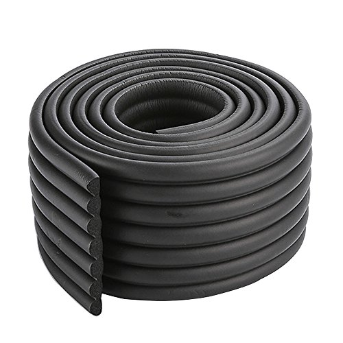 2x2m/13ft Black Door Edge Guard Panel Bumper Guard Strap Edge Protectors for Metal Edging Tasteless NBR