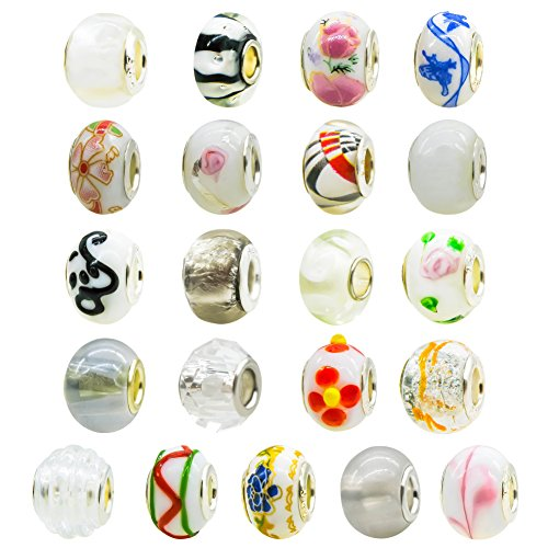 TOAOB 10pcs Large Hole European Beads 14mm Fit Grace Charm