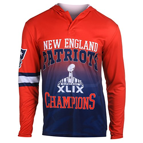 NFL New England Patriots Super Bowl XLIX Champions Hoody Tee, Large (Patriots Xlix Champions compare prices)