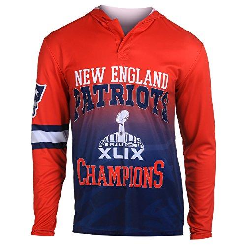 NFL New England Patriots Super Bowl XLIX Champions Hoody Tee, Large