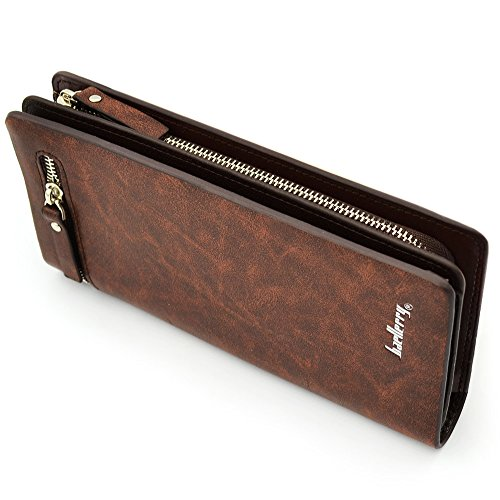 Ranboo Multifunctional PU Leather Man's wallet Pockets Money Purse Handbag / Mobile phone Pouch Case for iphone 6 plus , iphone 6, 5S ,Samsung Galaxy Note 3 Note 4 Note Edge , Samsung S5 ,Nokia Lumia ,Sony Xperia Z2,Z3 ,LG G3 ,G2 + 2 in 1 stylus pen (Brown-B)