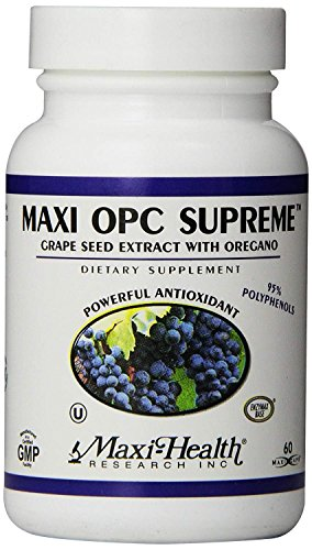 Maxi Health OPC Supreme – Grapeseed Extract & Oregano – Powerful Antioxidant – 60 Capsules – Kosher For Sale