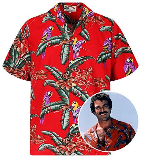 Original Hawaiian Shirt, Magnum P1, Tom Selleck, red, XXL