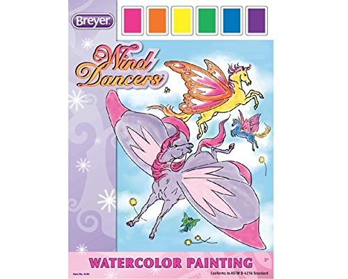 Wind Dancers Watercolor Painting by - Wind Breyer Dancers