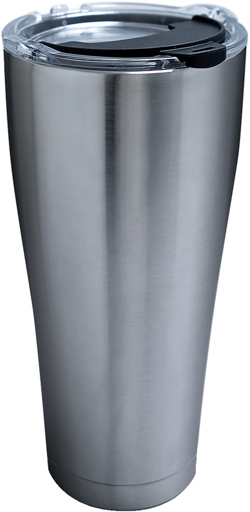 Tervis 1287296 Stainless Stainless Steel Tumbler with Clear and Black Hammer Lid 30oz, Silver