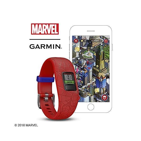 Garmin-Vivofit-Jr2-Activity-Tracker-per-Bambini-Cinturino-Regolabile-Marvel-Spider-Man-Rosso-6-Anni-in-su