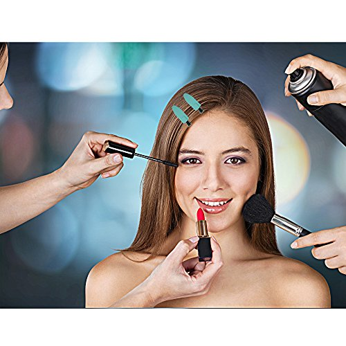 No Crease Hair Clips by A&D Innovation-Set of 6 Rubber No Bend Hair clips used by Professionals & Celebrity Stylists-Perfect for Makeup Application, Styling & Sectioning, will Not Crease or Dent Hair. by A&D Innovation (Image #5)