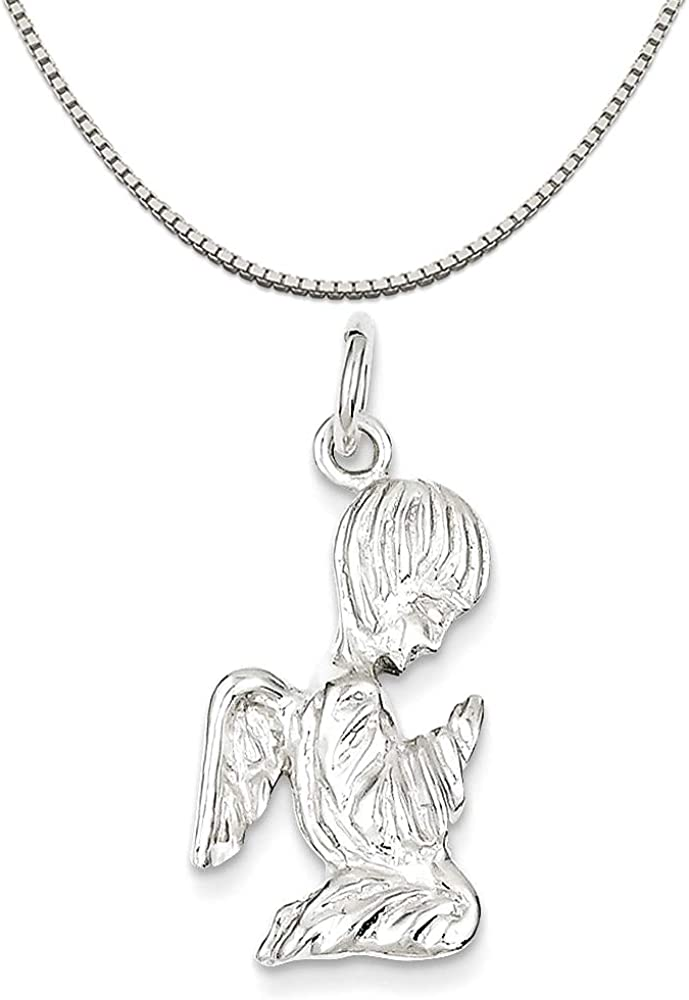16 in-20 in Sterling Silver Angel Charm on a Sterling Silver Chain Necklace