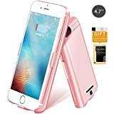 BoxLegend iPhone 7/6s/6 4.7'' Battery Case 5000mAh Polymer Battery 2 hrs Fast Recharge Rate Black/Rose Gold Battery Charger Charging Case Battery Pack Charger Case for iphone 7/6s/6