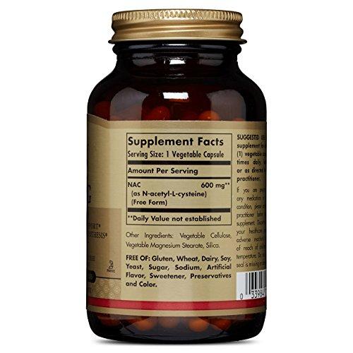 Solgar – NAC 600 mg, 120 Vegetable Capsules by Solgar (Image #3)