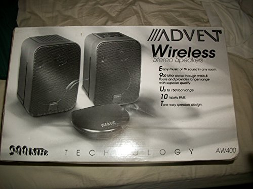 ADVENT AW400 AW 400 WIRELESS STEREO SPEAKERS 900 MHZ