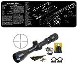 Ultimate Arms Gear Mauser K98 K-98 Karabiner Long Eye Relief Scope + Weaver Rail Scope Mount + Rings + Lens Covers + Lens Cleaning Kit + Gunsmith/Armorer's Cleaning Work Tool Bench Gun Mat