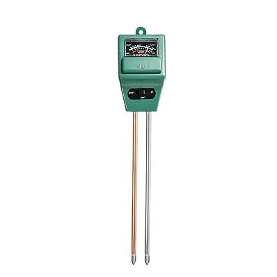 Mudder 3-in-1 Soil Moisture Meter with Plant Light & PH Test Gauge Function, Suitable for Testing pH Acidity, Moisture & Sunligh : Garden & Outdoor
