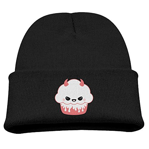 Cupcake Costumes For Kids Pattern (Jukaifaquj Cute Cupcakes Children Girls&Boys Winter Warm and Comfortabl Cute Pattern Knitting Hat Beanie Skull Cap Black)