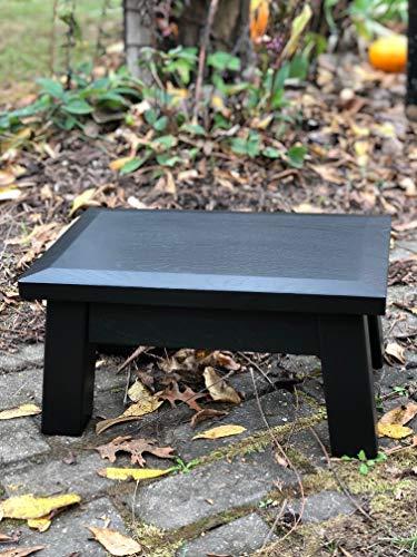 "Modern, wood riser, beveled edge, contemporary stool, footstool, 8"" - 10"" high"