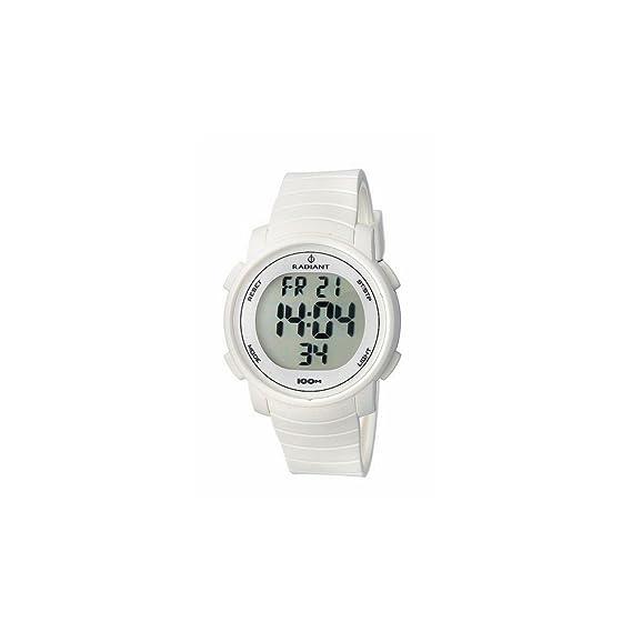 Radiant RA183602 - Reloj con Correa de Caucho para Hombre, Color Blanco/Gris: Radiant New: Amazon.es: Relojes