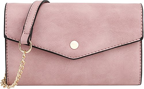 Clutch Blush - SG SUGU Women's Envelope Clutch Crossbody Wallet (Blush)