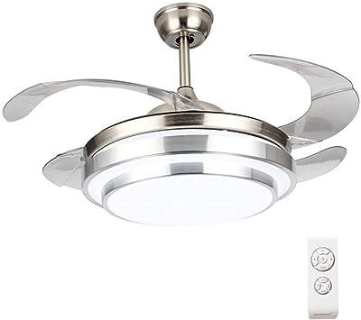 Moderno ventilador de techo con aspas retráctiles y luz de 42 ...